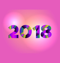 2018 new year concept vector