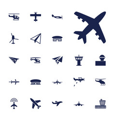 22 aviation icons vector