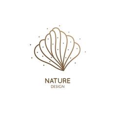 abstract seashell simple logo vector image