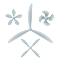 Aircraft screw set airplane propellers on white vector