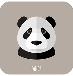 Animal Portrait With Flat Design Panda vector image