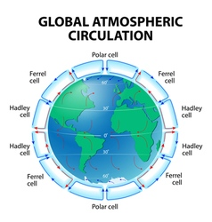Atmosphere Global circulation vector image