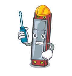 Automotive harmonica mascot cartoon style vector