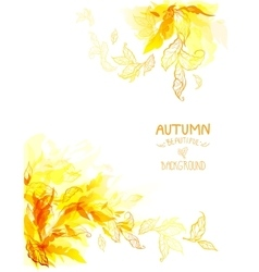 Autumn leaves art background vector image