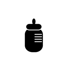 baby bottle icon black vector image