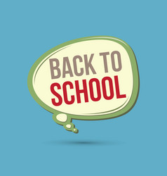 back to school text in balloons vector image