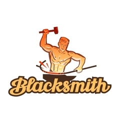 Blacksmith logo smithy or industry icon vector
