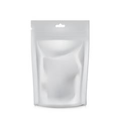 blank foil food or drink bag packaging plastic vector image