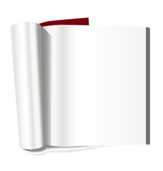 Book with blank page vector