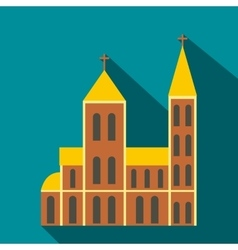 Catholic church flat icon vector