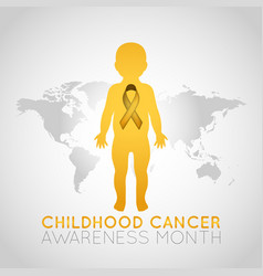 childhood cancer awareness month logo icon vector image