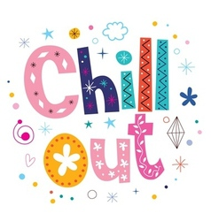 Chill out text typography lettering vector