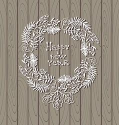 Christmas wreath1 vector