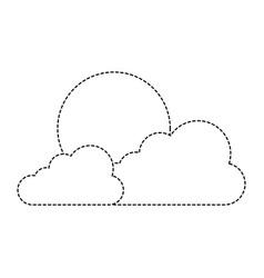 cloud sky with sun vector image