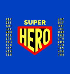 comics super hero style font design vector image