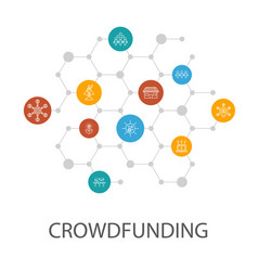 Crowdfunding presentation template cover layout vector