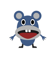 cute blue mouse vector image