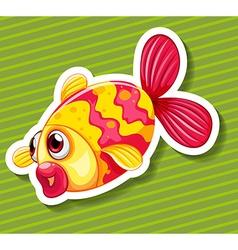 Cute little fish swimming vector