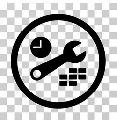 date and time configuration rounded icon vector image