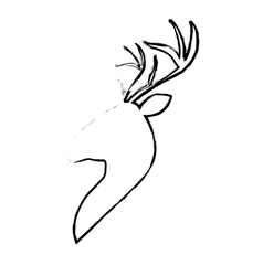 Deer animal icon vector