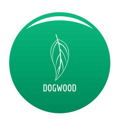 Dogwood leaf icon green vector