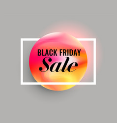elegant minimal black friday sale background vector image