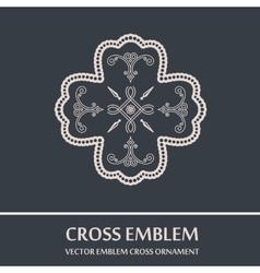 emblem cross ornament vector image