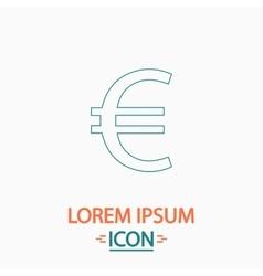 Euro computer symbol vector