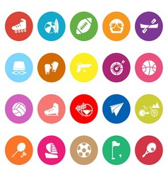 Extreme sport flat icons on white background vector