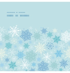 Falling snow horizontal frame seamless pattern vector