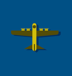 Flat icon design collection heavy military vector