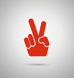 Flat Peace Hand Sign Icon vector
