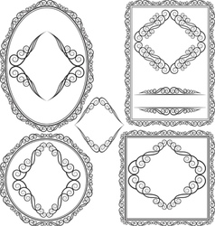 Frames - square oval rectangular circular vector