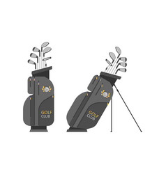 golf bag with clubs vector image