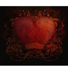 Grunge valentine background vector