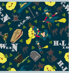Halloween 23 seamless pattern in style of vector