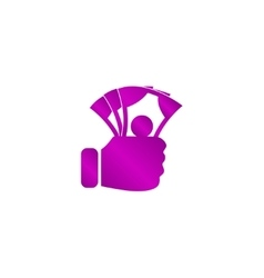 hand holding money icon vector image
