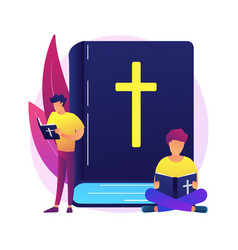 holy bible abstract concept vector image