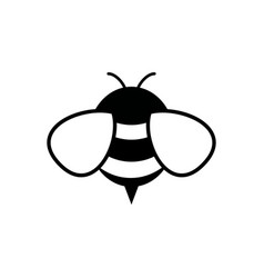 honey and bee icon honey vector image