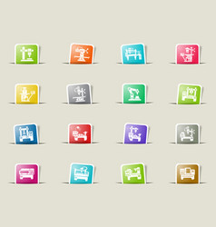 Industrial equipment icon set vector