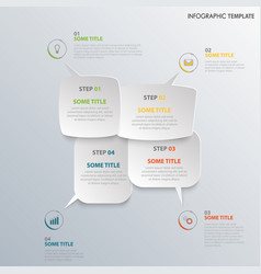 info graphic with design speaking bubbles template vector image
