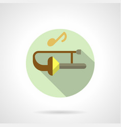 Jazz music flat round icon vector