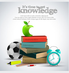 knowledge stuff composition vector image