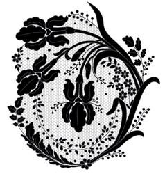 Lace flower decor vector