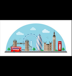 london cityscape flat color vector image