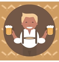 Man with a mug of beer vector