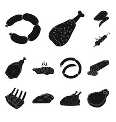 Meat and ham logo vector