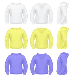 Mens Sweater with Hoodie vector