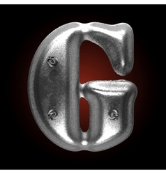 Metal construction figure g vector