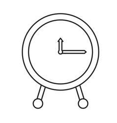 monochrome silhouette of clock icon vector image